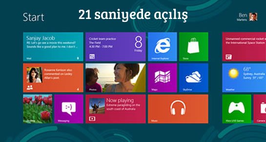 windows 8 hız