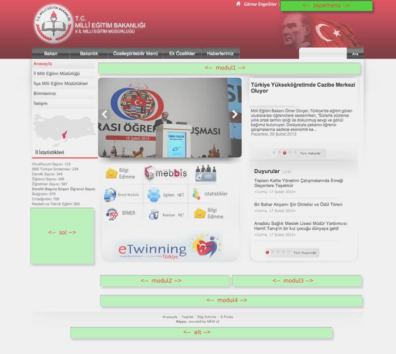 Okul Sitesi - MEB Görünümlü